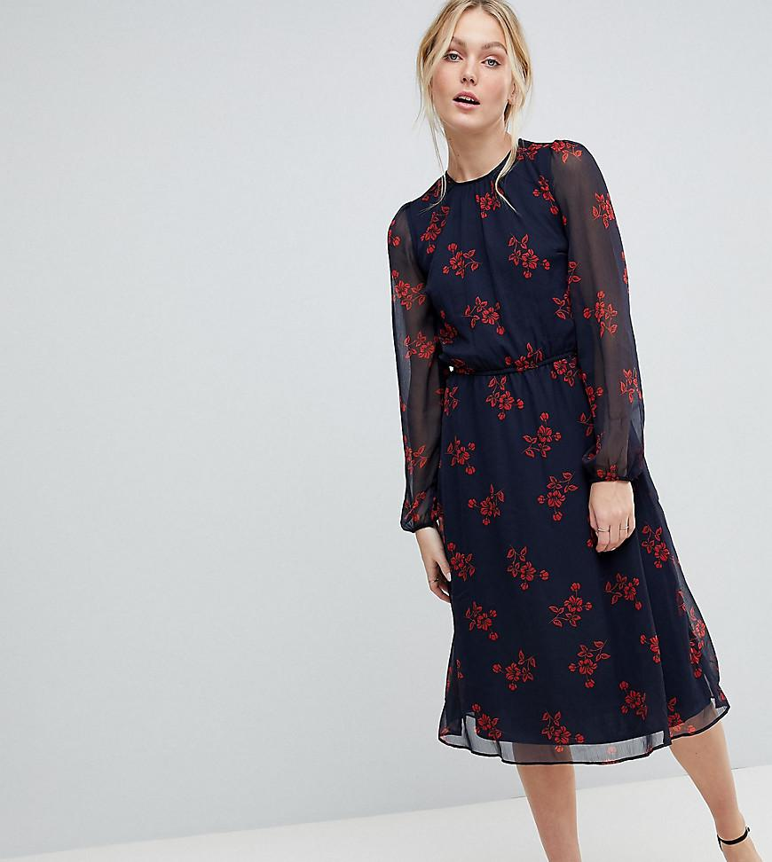 Lyst - Y.A.S Flow Floral Dress in Blue 4eef437a7