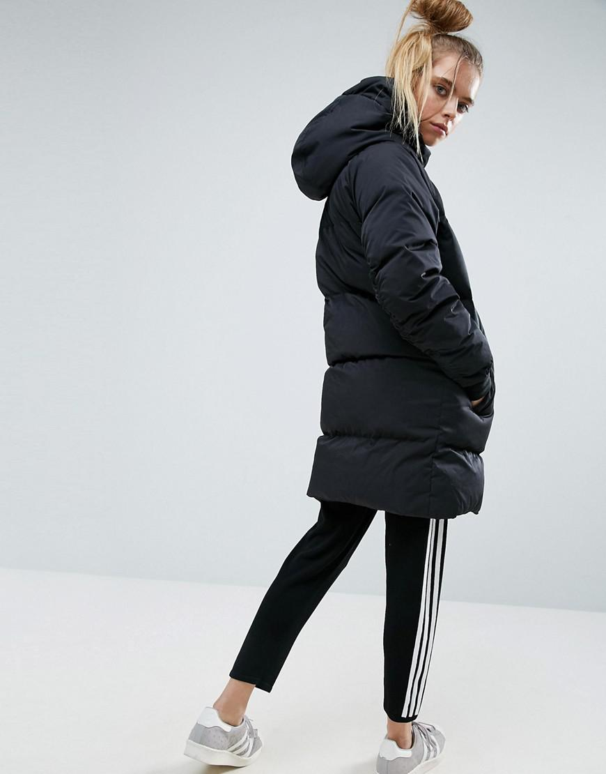 9548d206 adidas Long Bomber Jacket in Black - Lyst