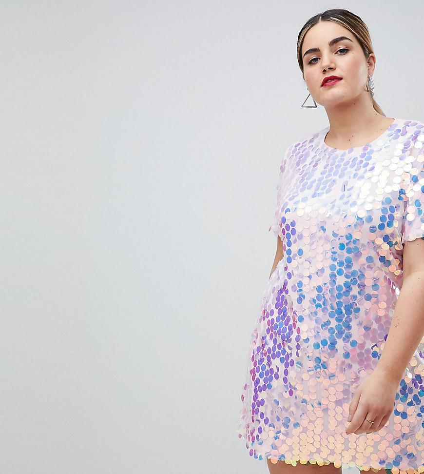 Sequins Style Festival Shirt Robe En Blue T Missguided Coloris DW2IEH9