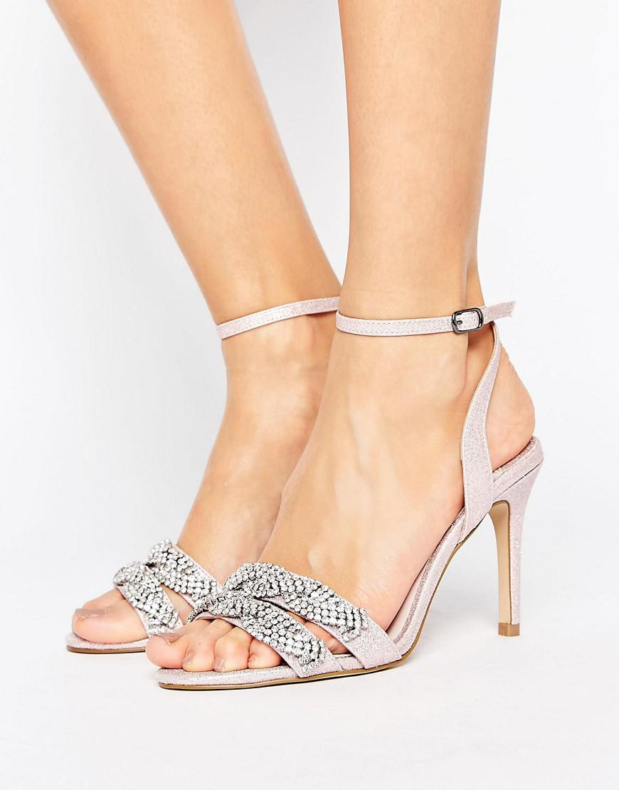 3f62f9b21b9 Faith Dash Embellished Heeled Sandals in Pink - Lyst