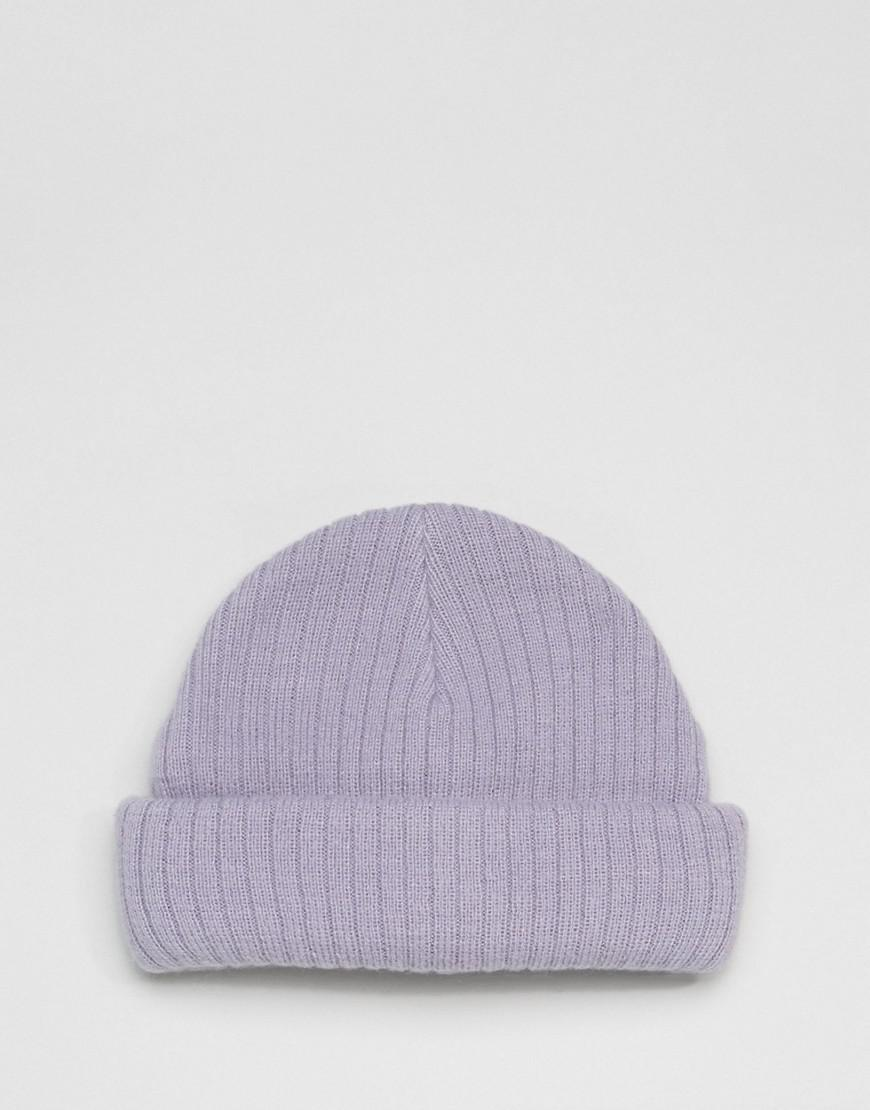 ee9cdc0073d Lyst - ASOS Mini Fisherman Beanie In Lilac in Purple for Men