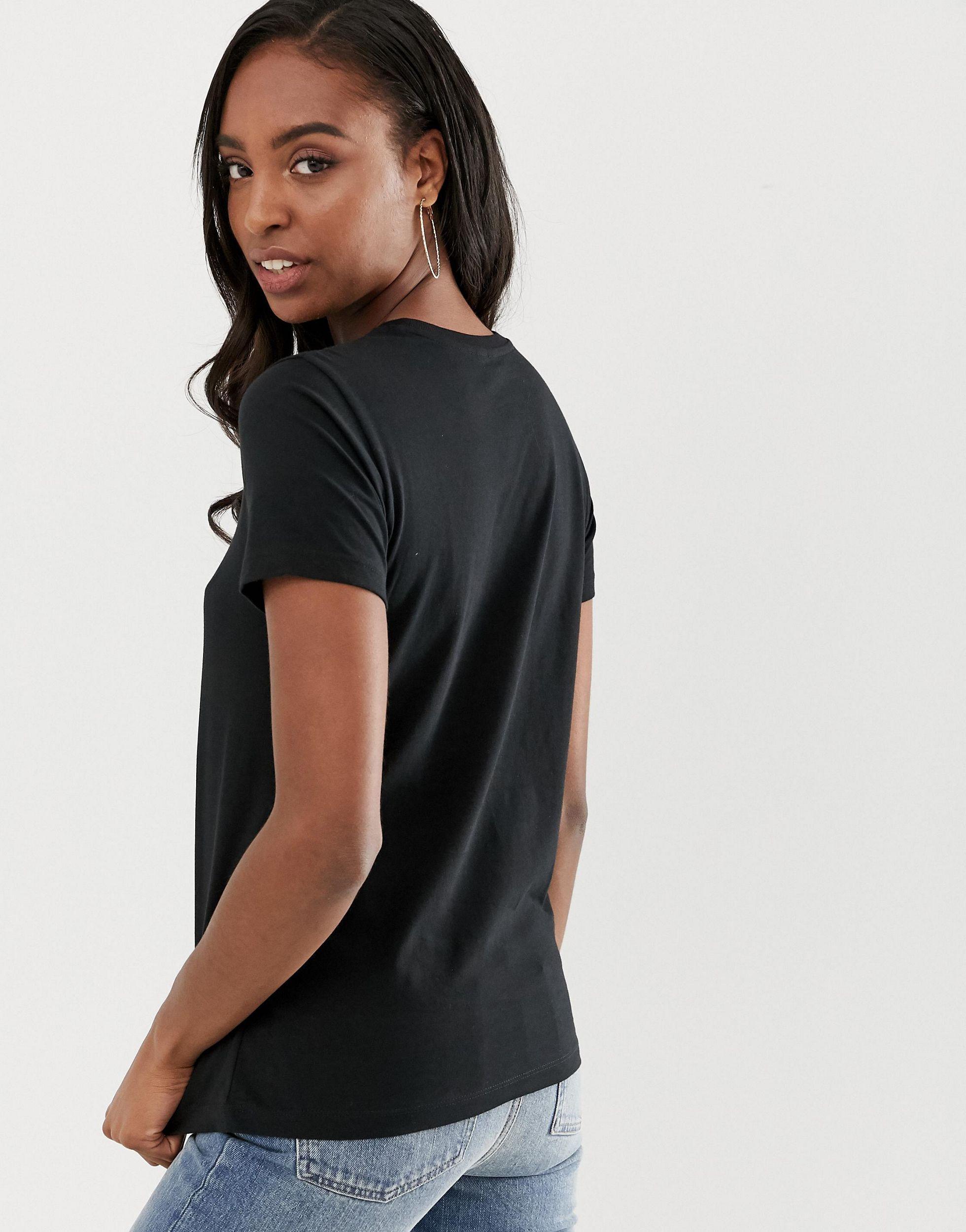 Camiseta negra con cuello redondo Ultimate ASOS de Denim de color Negro