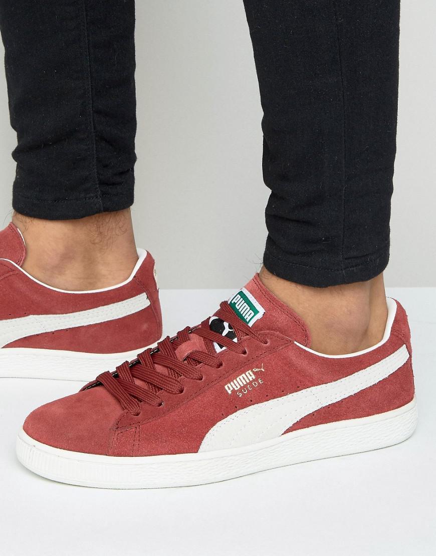 PUMA - Suede Classic + Sneakers In Red 35263475 for Men - Lyst. View  fullscreen 4dde94151