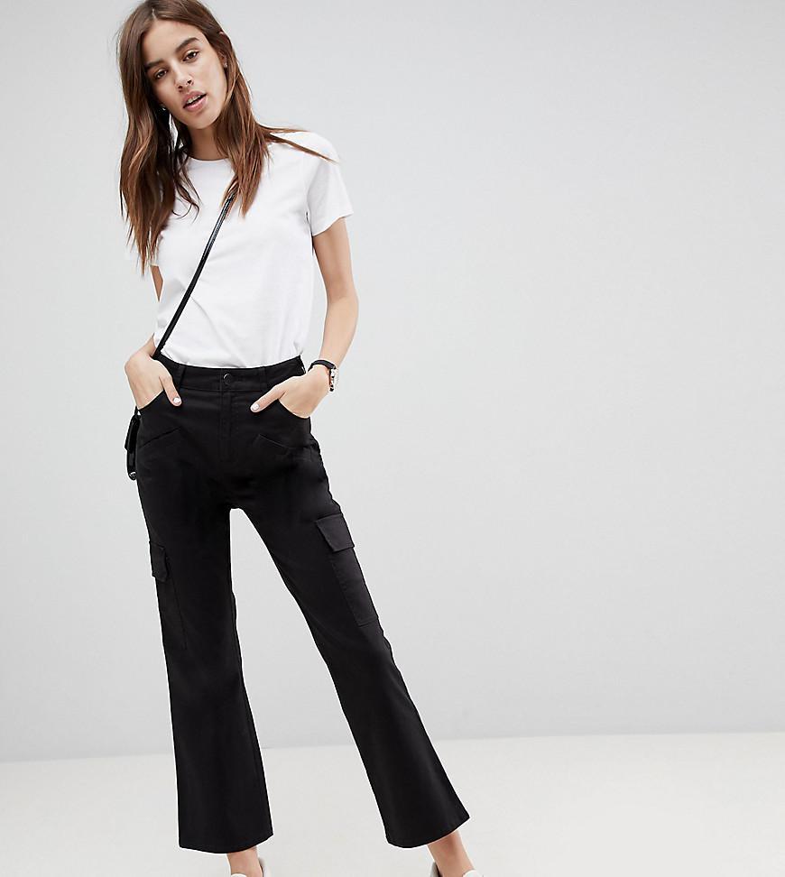 DESIGN Satin Combat Trousers - Cream Asos ZrhjKG