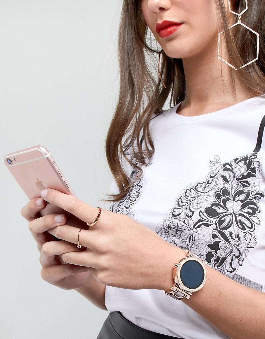 Michael Kors Access Mkt5041 Sofie Bracelet Display Smart Watch In