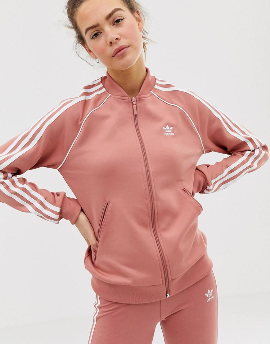 aed63a48a172 Lyst - adidas Originals Track Jacket in Pink