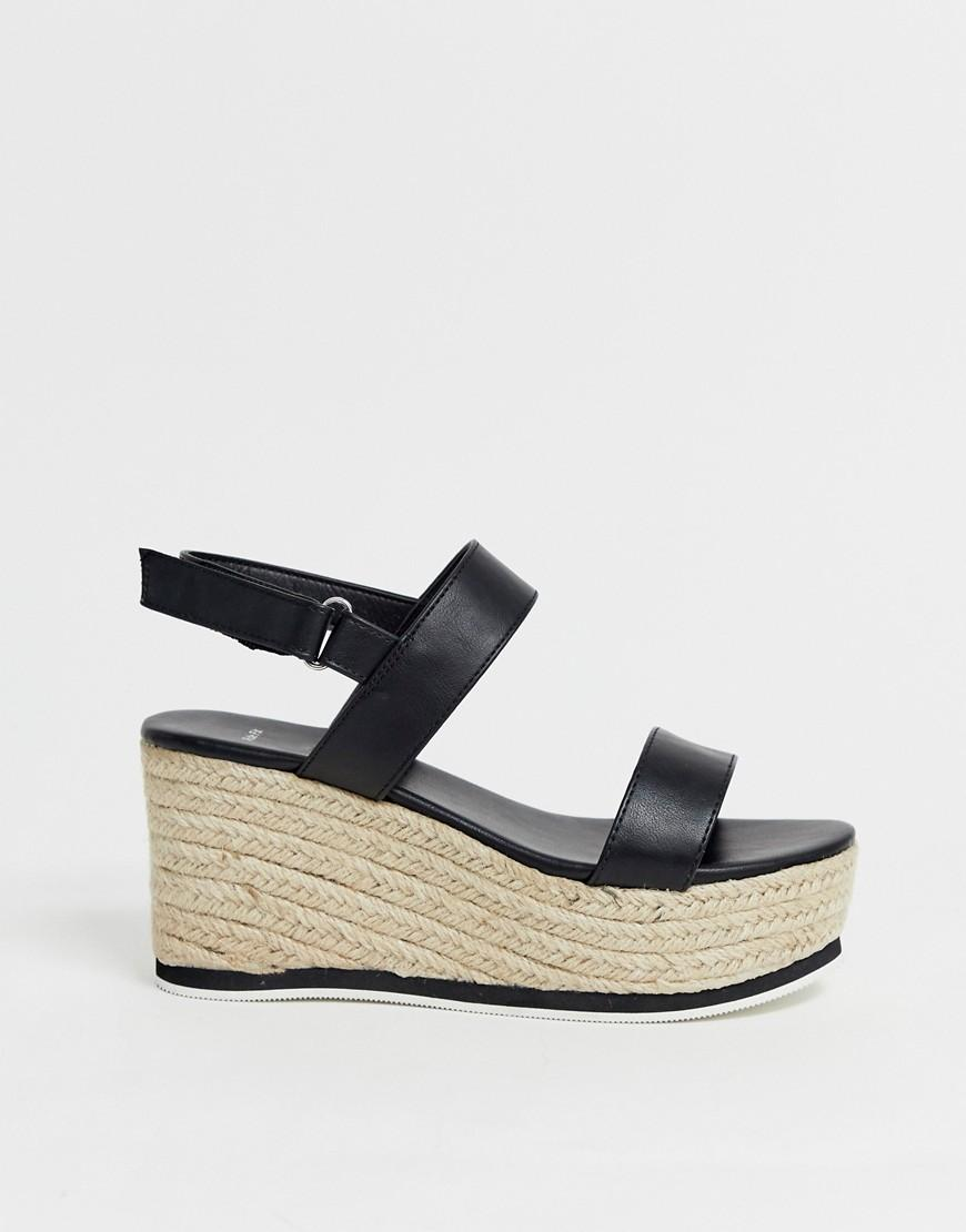 65d1066a2 New Look Espadrille Wedge Sandal In Black in Black - Lyst