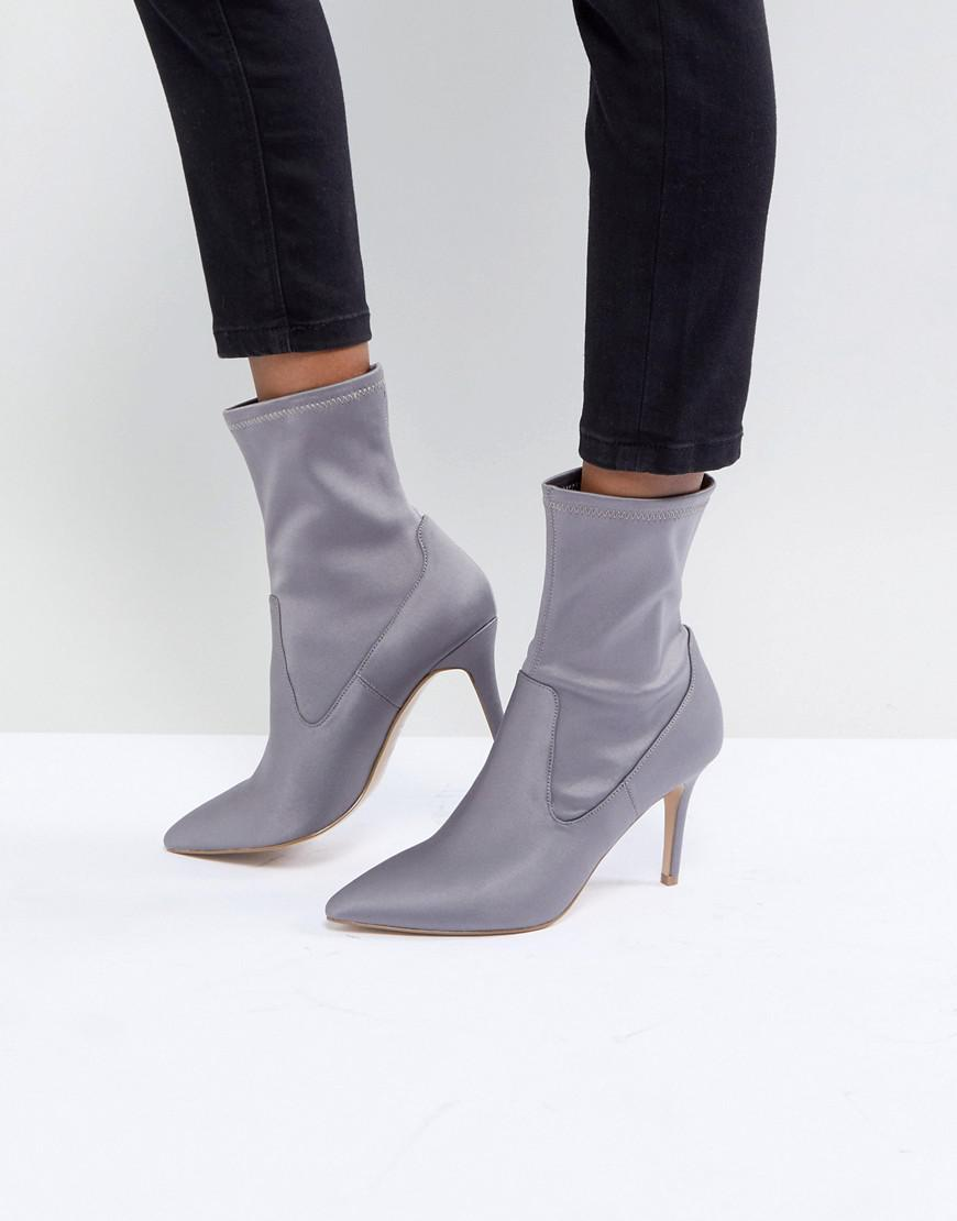 b85bf9d680fa Faith Pull On Sock Boot In Grey in Gray - Lyst