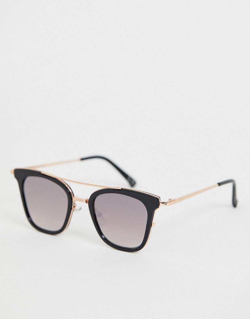 2365c1e23e0 ASOS Metal In Gold With Black Sandwich Mirror Lens in Black for Men ...