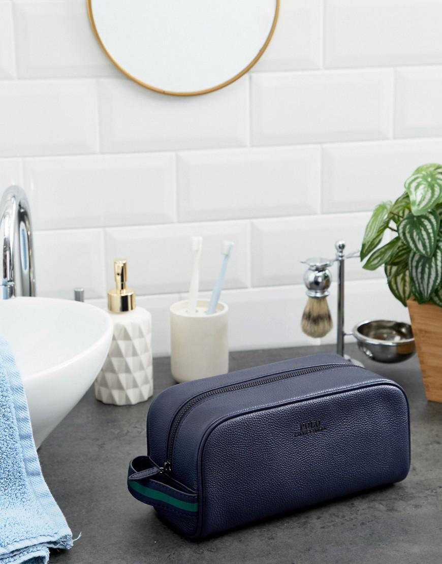 Toilette Polo Coloris En Pour Maroquin Blue Lauren Trousse De Homme Cuir Ralph CrxBdWoe