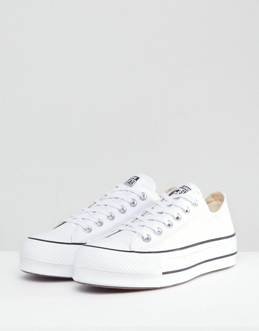 bd988eb0a0874f Converse Chuck Taylor All Star Platform Ox Trainers In White in White - Lyst