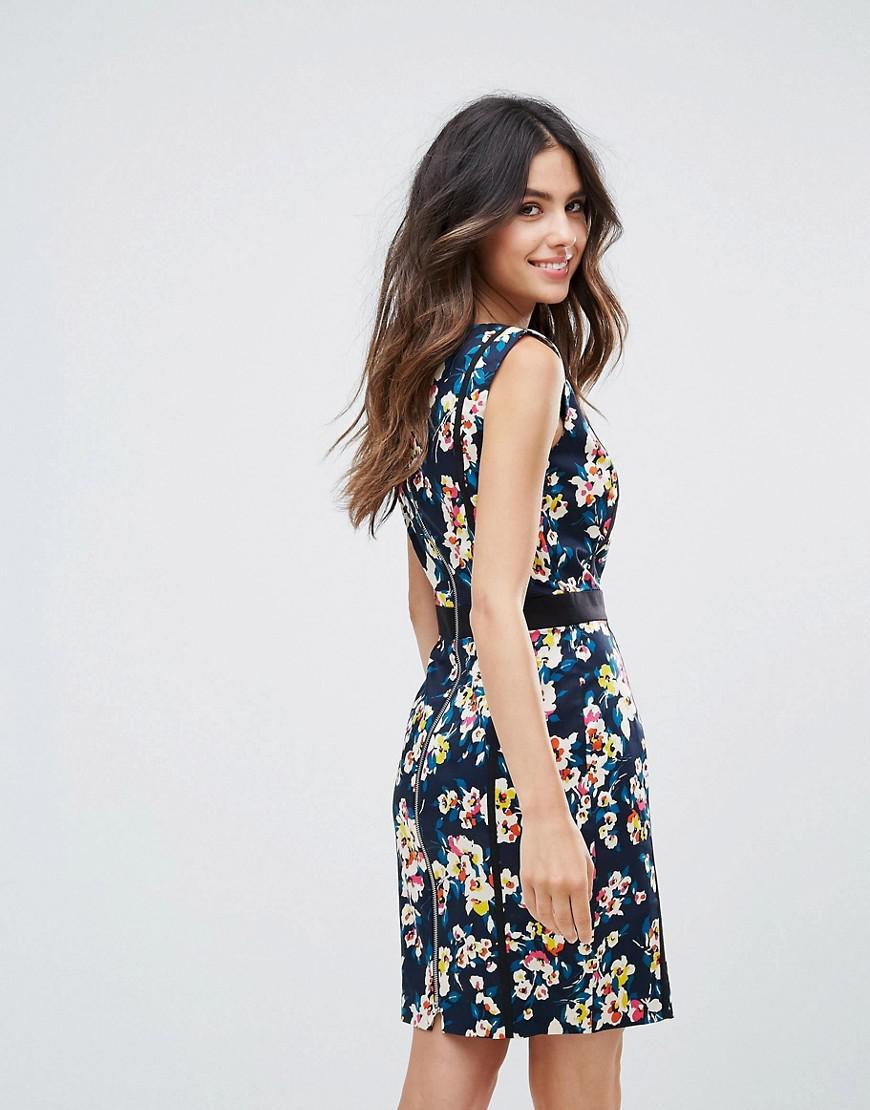 mujer French Connection algodón dril tiras para Vestido Daisy de con River de w7qX0vP