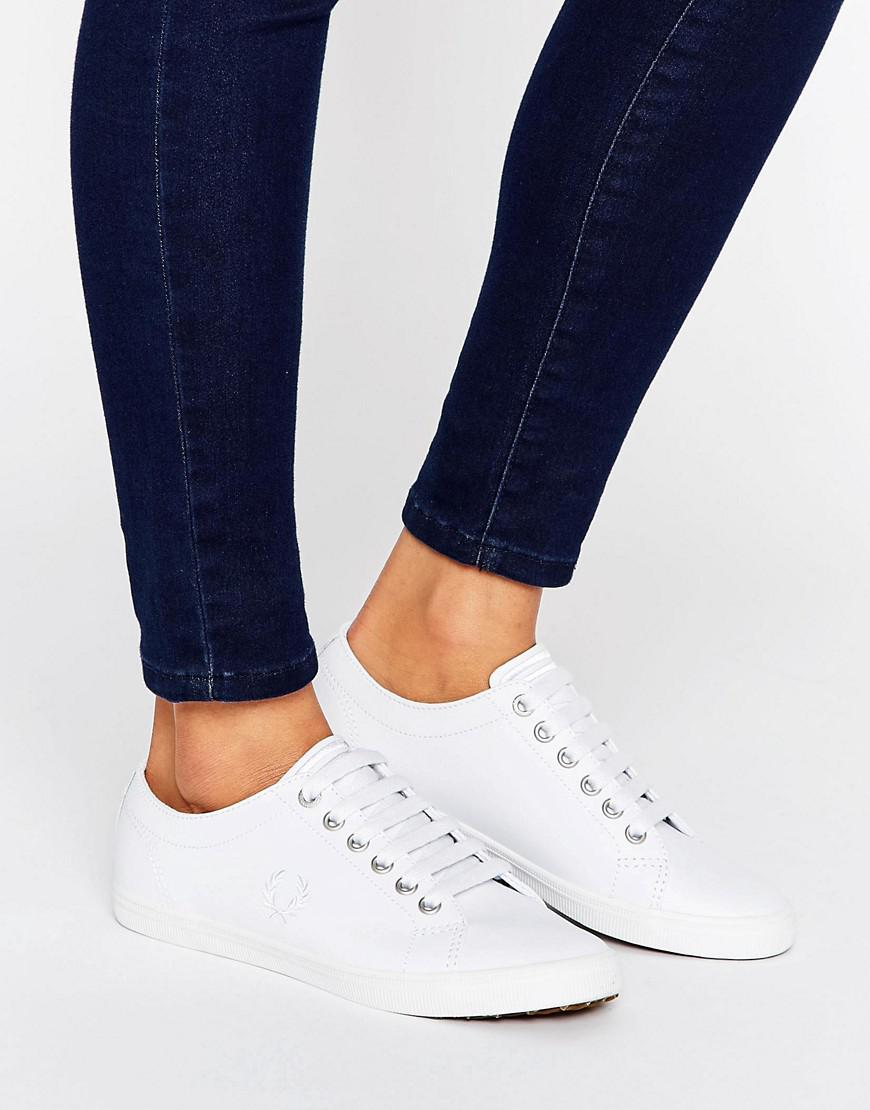 1658ac7fa46c4 Lyst - Fred Perry Kingston White Leather Sneakers in White