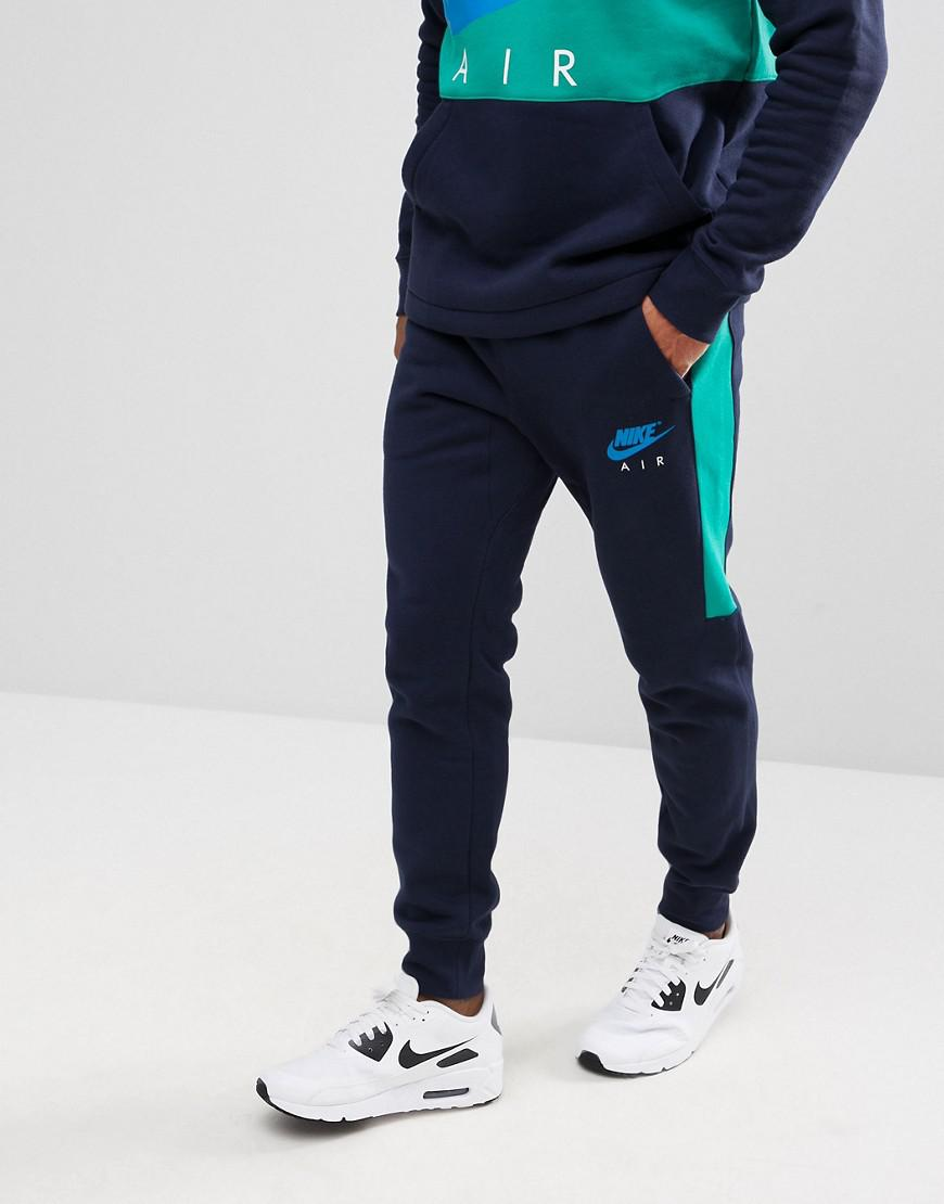 purchase cheap 06f32 d2d38 Nike Air Skinny Joggers In Navy 861626-451 in Blue for Men - Lyst