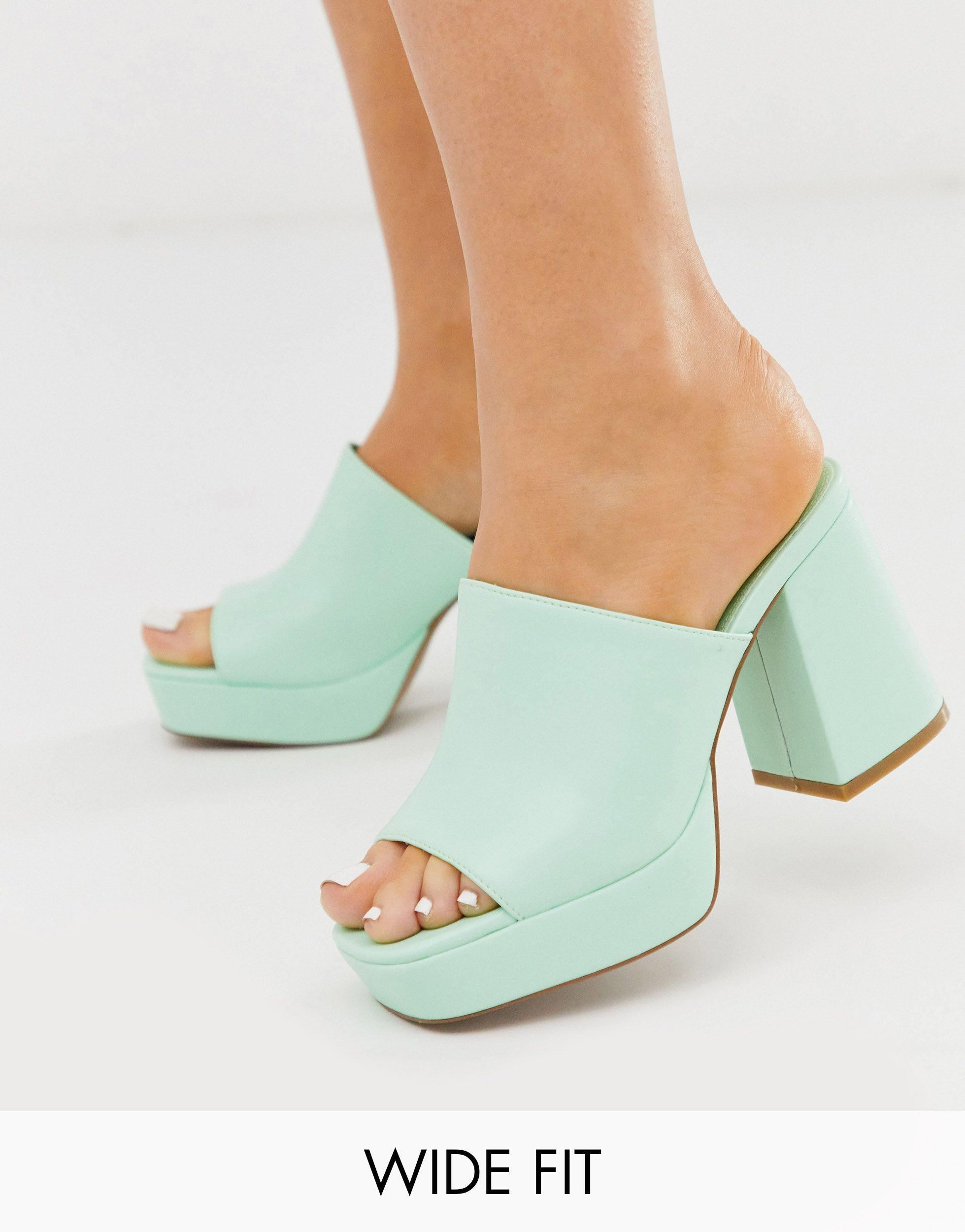 ASOS Wide Fit Happy Chunky Platform