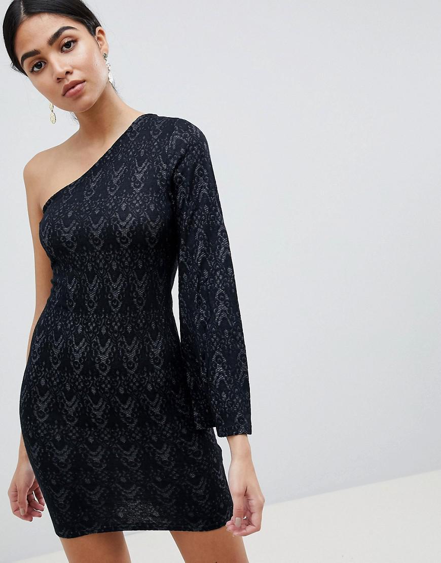 Ax Paris One Sleeve Lace Mini Dress Low Price Fee Shipping 7cXkl