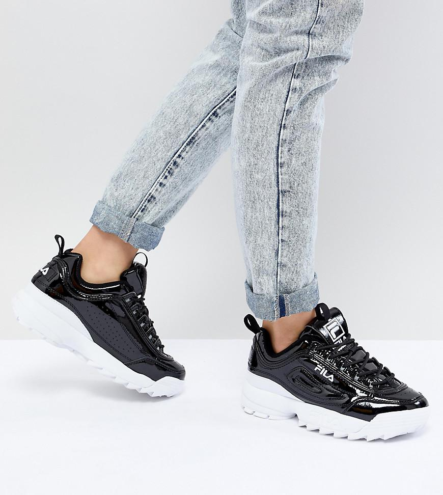 wholesale online hot product entire collection Disruptor Sneakers In Patent Black