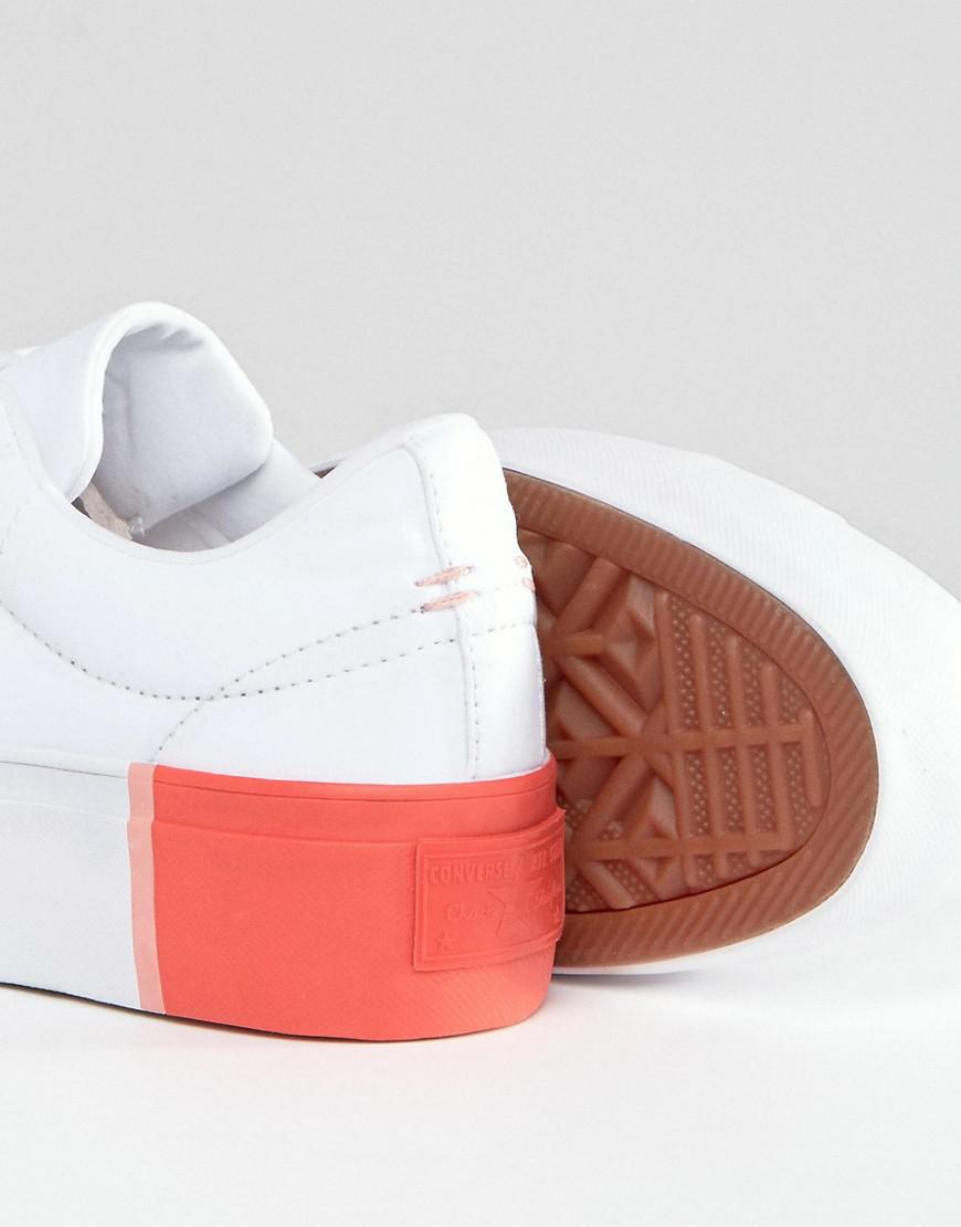 b2209d246e99e Lyst - Converse One Star Platform Ox Trainers With Colour Block Heel ...