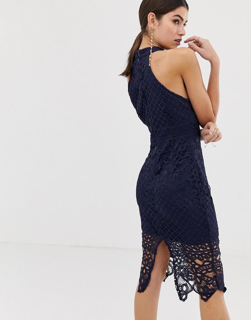 9bb79371447 Girl In Mind Lace Midi Dress in Blue - Lyst