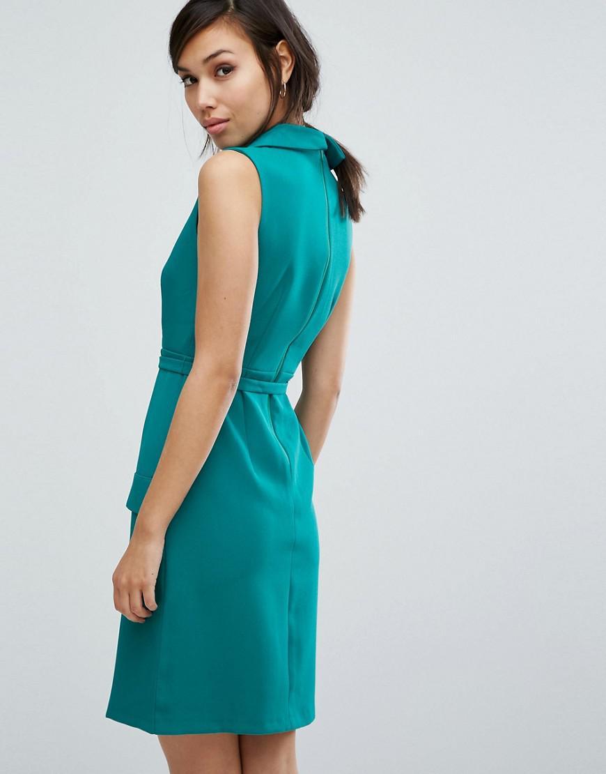 e451c39b6 Lyst - Vesper Tailored Sleeveless Dress in Green