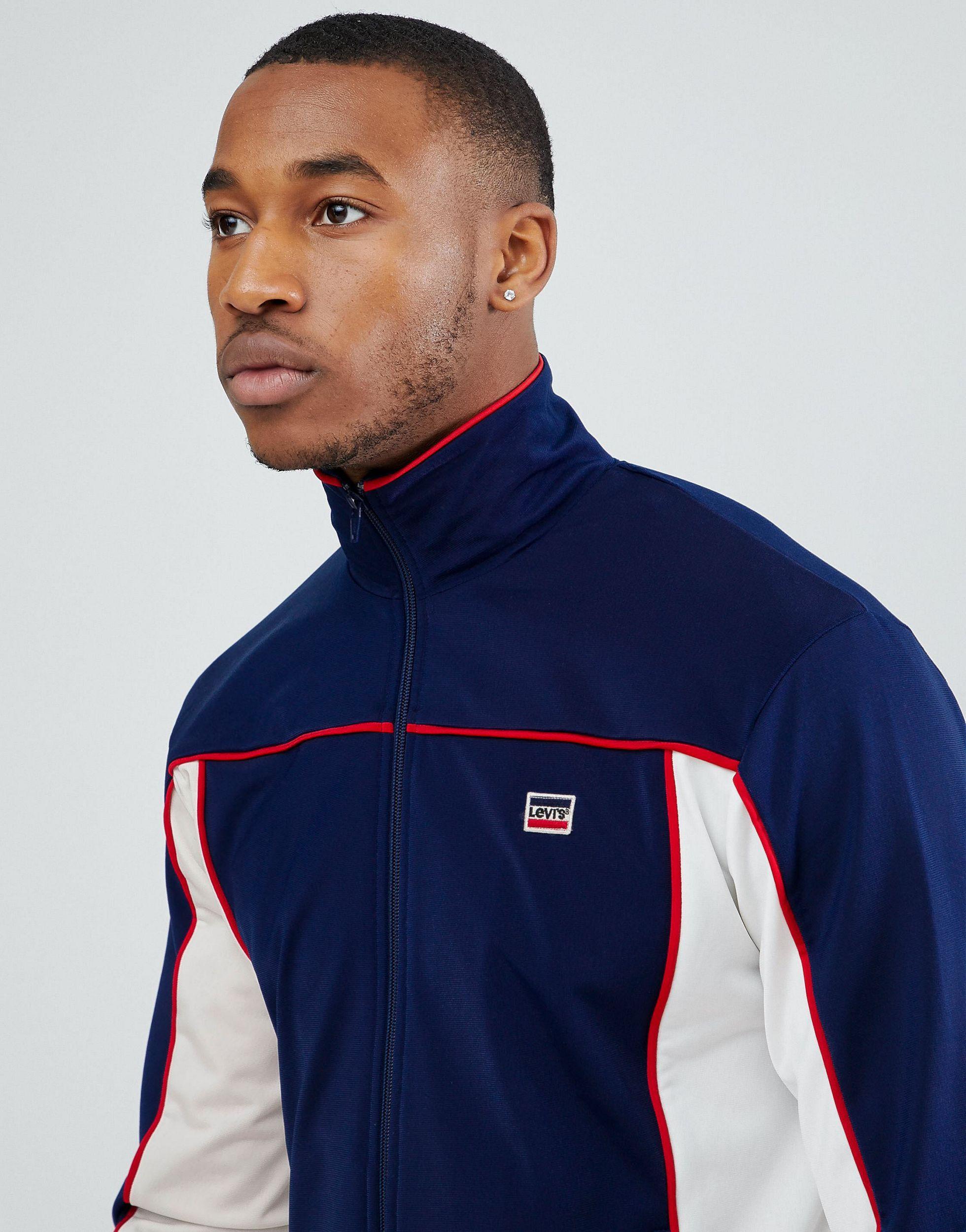 Levi's Denim Sportswear - Retro Trainingsjack in het Blauw voor heren