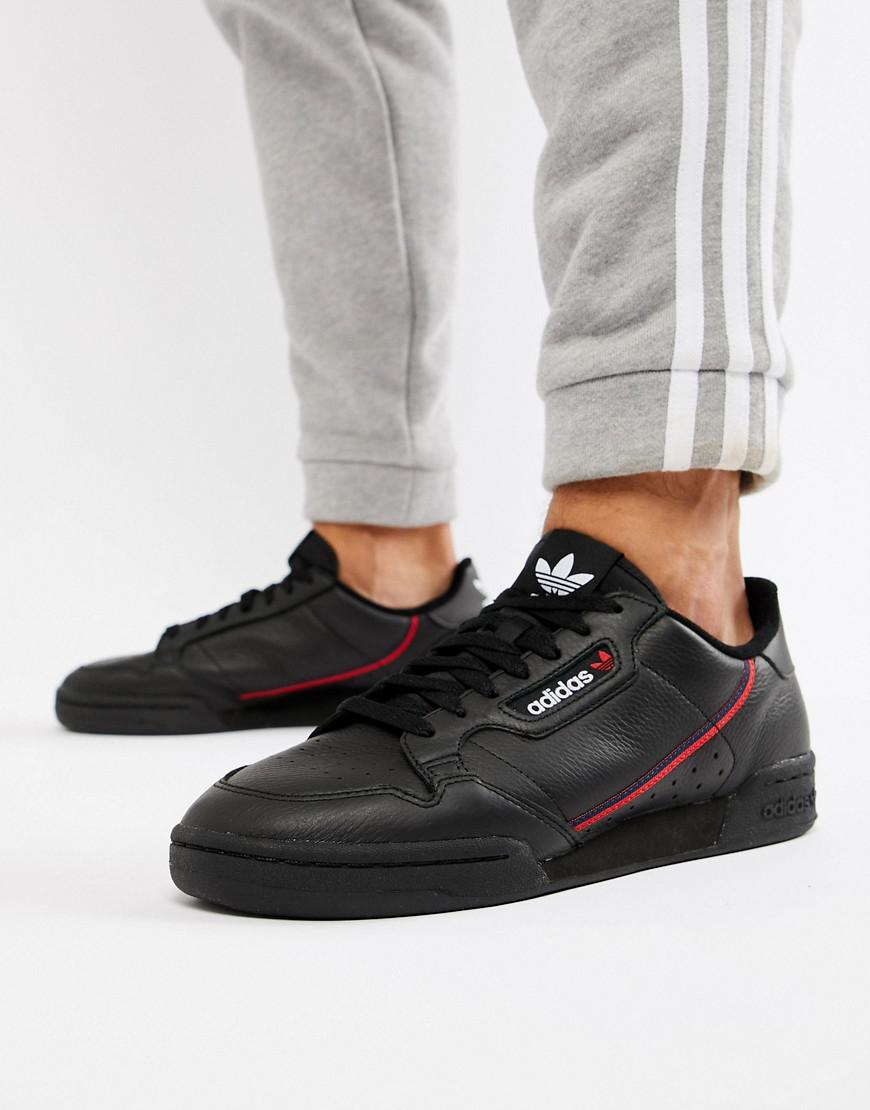 3a20e8802606 Lyst - adidas Originals Continental 80 s Sneakers In Black B41672 in ...