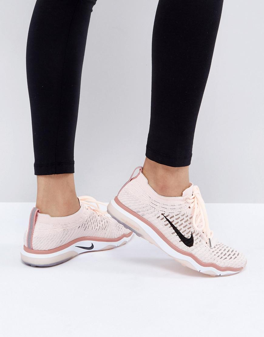 68253662259f75 Nike Training Air Zoom Fearless Flyknit Trainer In Pale Pink in Pink ...