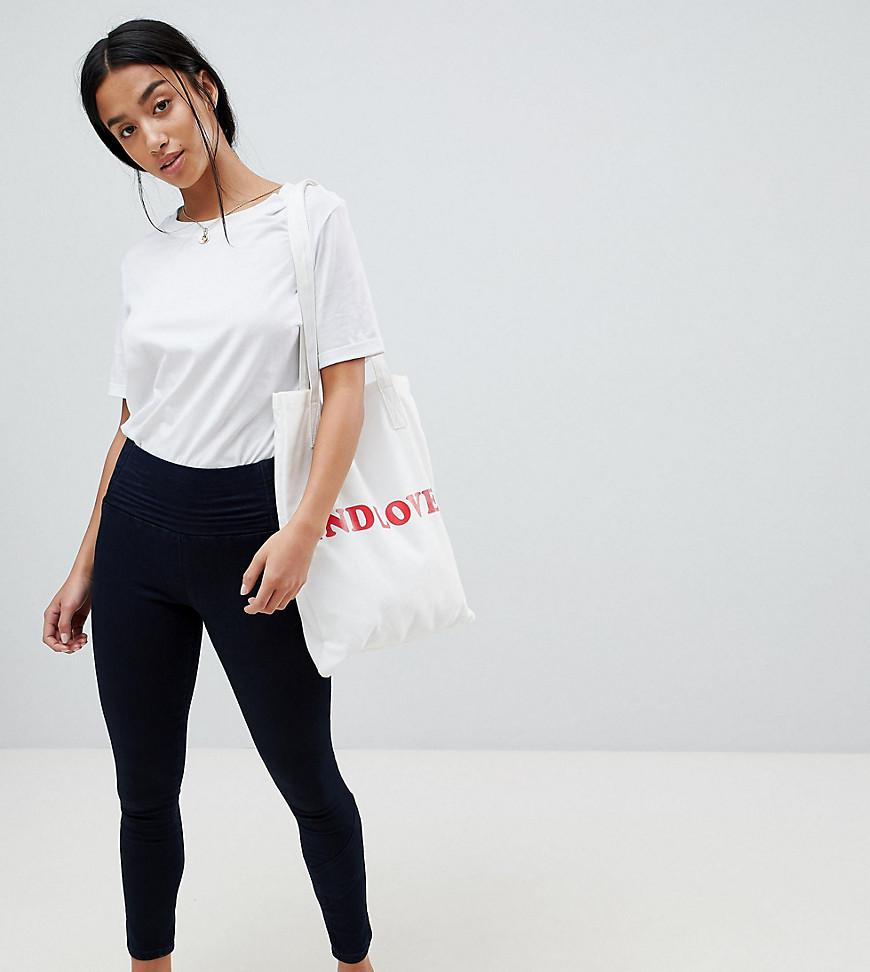 New For Sale Discount Newest ASOS DESIGN Petite Rivington With Athleisure Styling In Indigo Wash - Indigo Asos Petite Get To Buy For Sale BkNyaX2