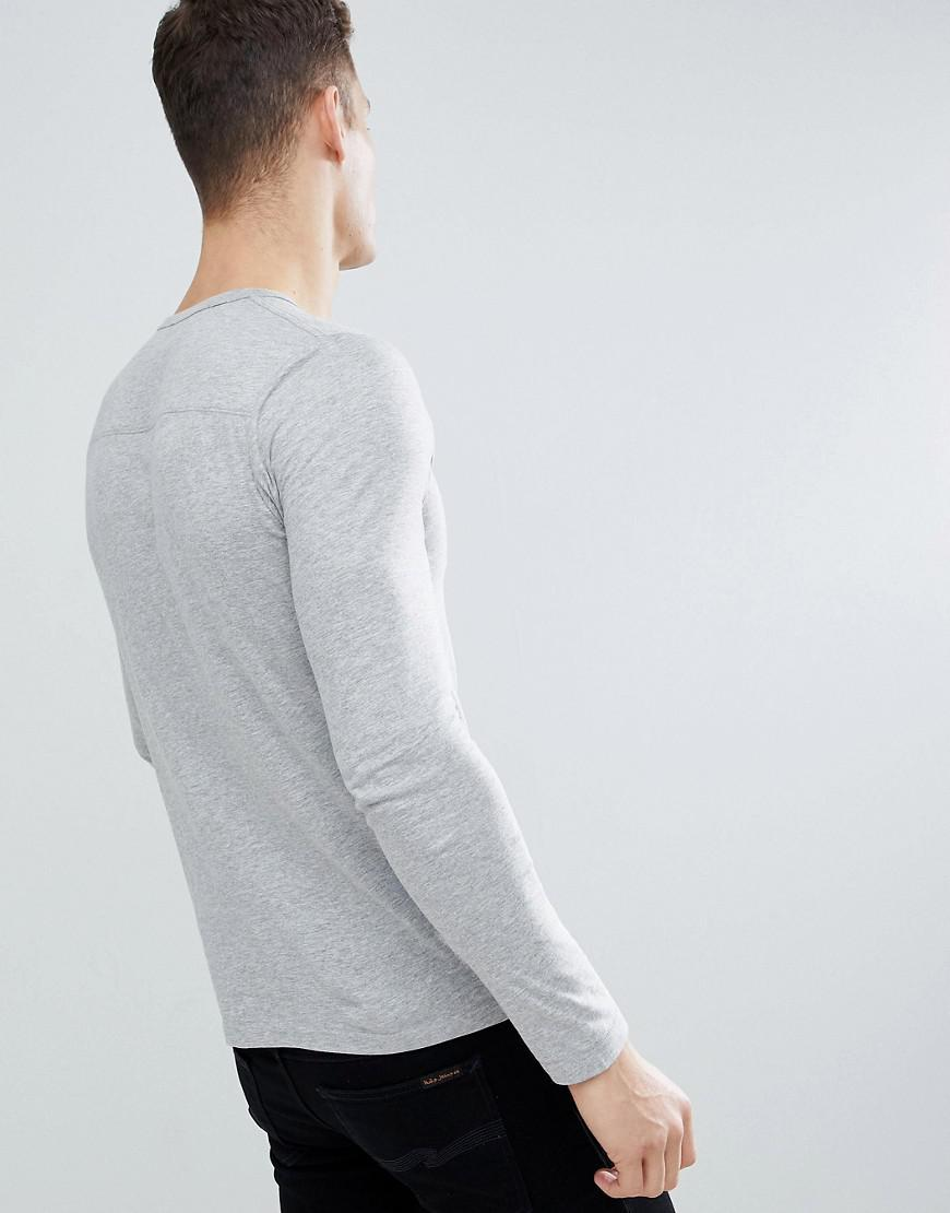 French Connection Crew Long Sleeve Top in Grey (Grey) for Men