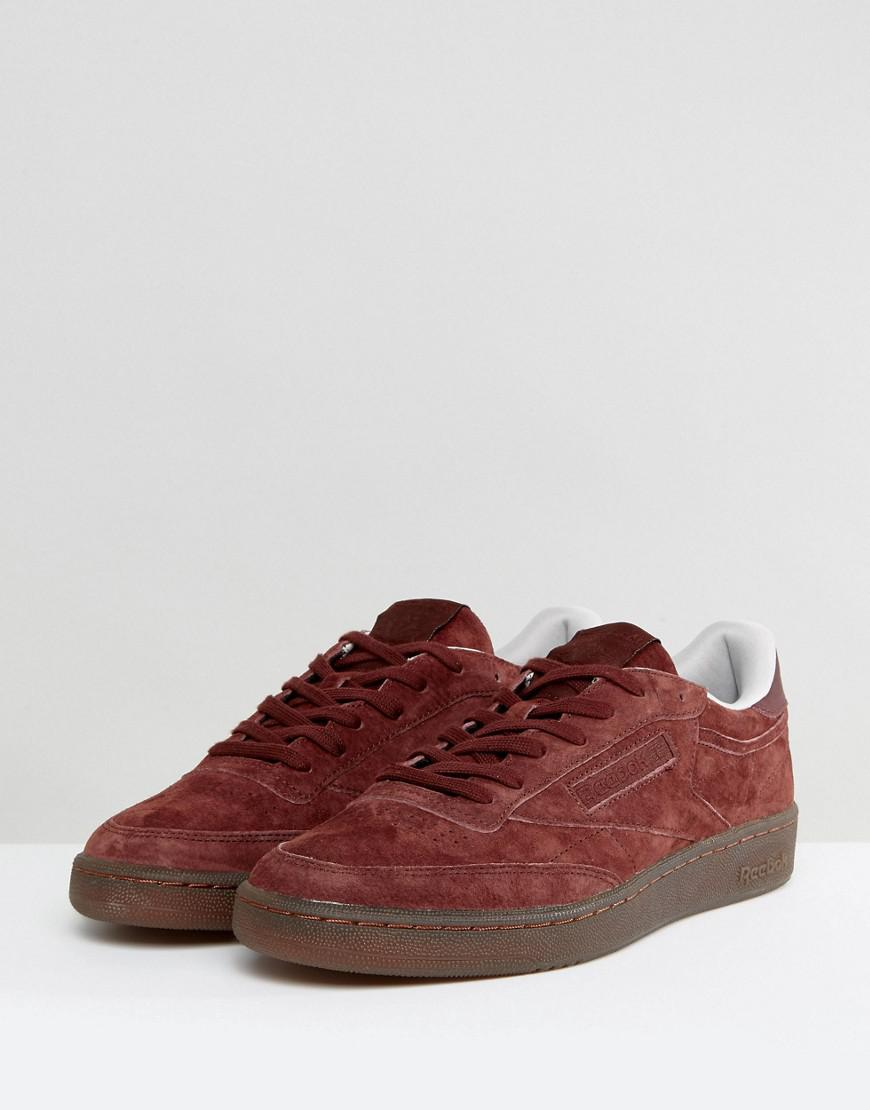 665133df350 Reebok Club C 85 Gum Sole Trainers In Red Bs5093 in Red for Men - Lyst