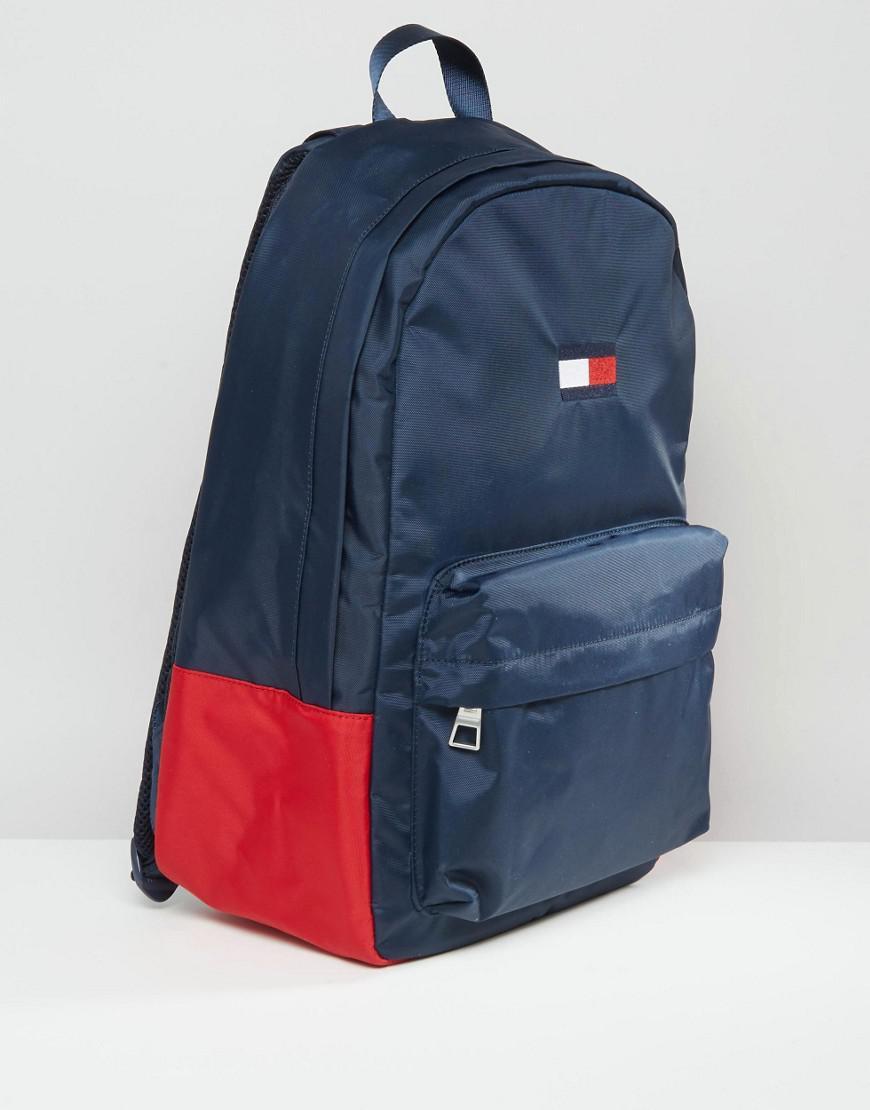lyst tommy hilfiger exclusive flag backpack in navy in blue. Black Bedroom Furniture Sets. Home Design Ideas