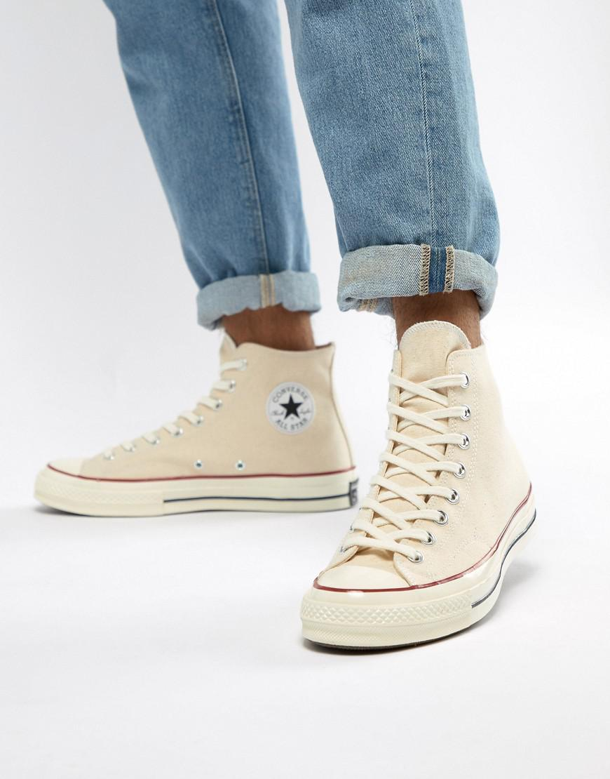 1f084aafb63 Converse. White Chuck Taylor All Star  70 Hi Trainers In Parchment 162053c