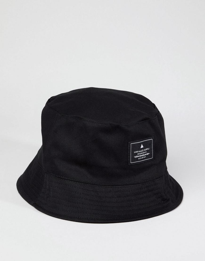 ASOS Asos Bucket Hat In Black With Patch in Black for Men - Save 33% - Lyst 501ac90ac39a