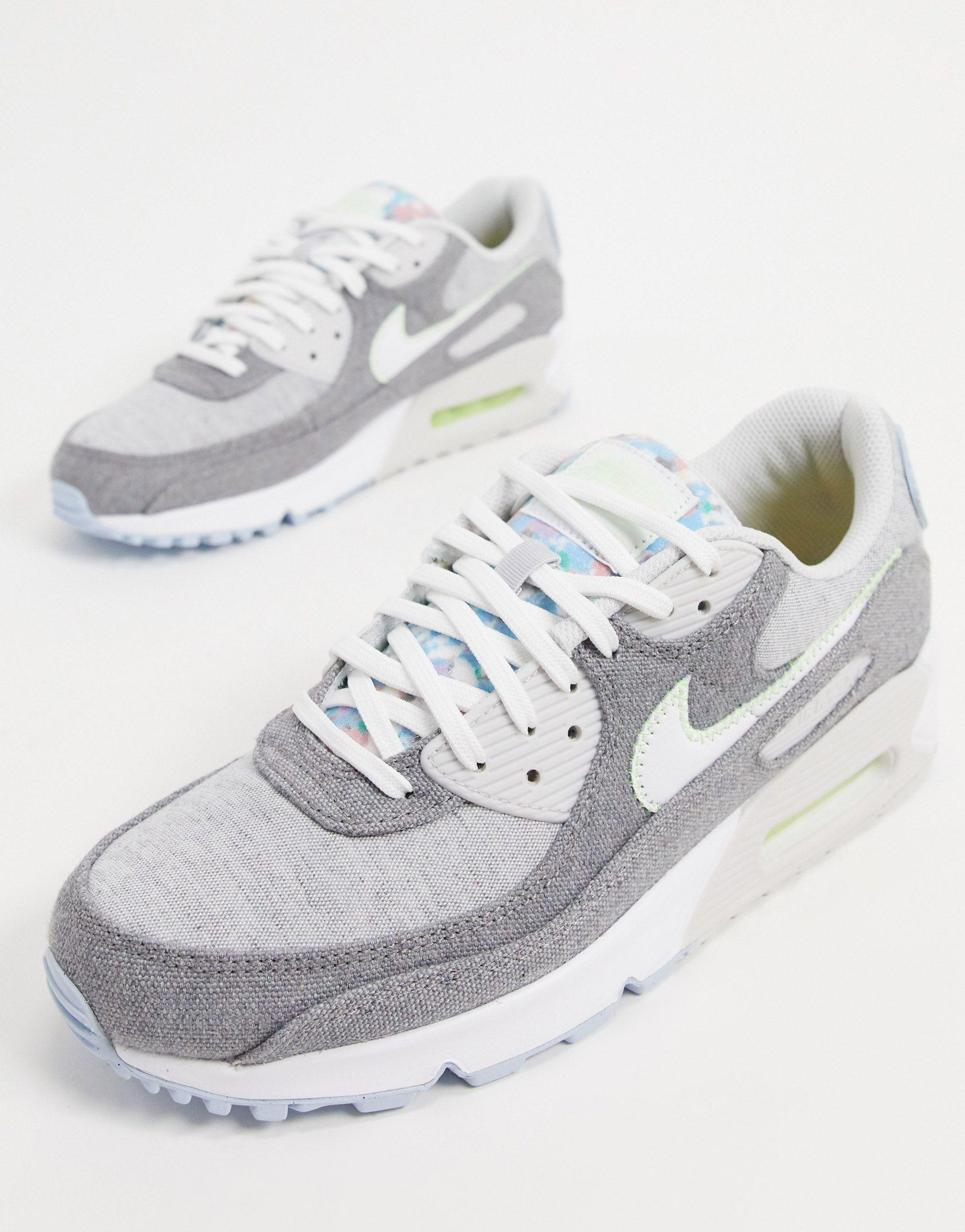 Nike Air Max 90 Recycled Canvas Sneakers in Gray for Men - Lyst