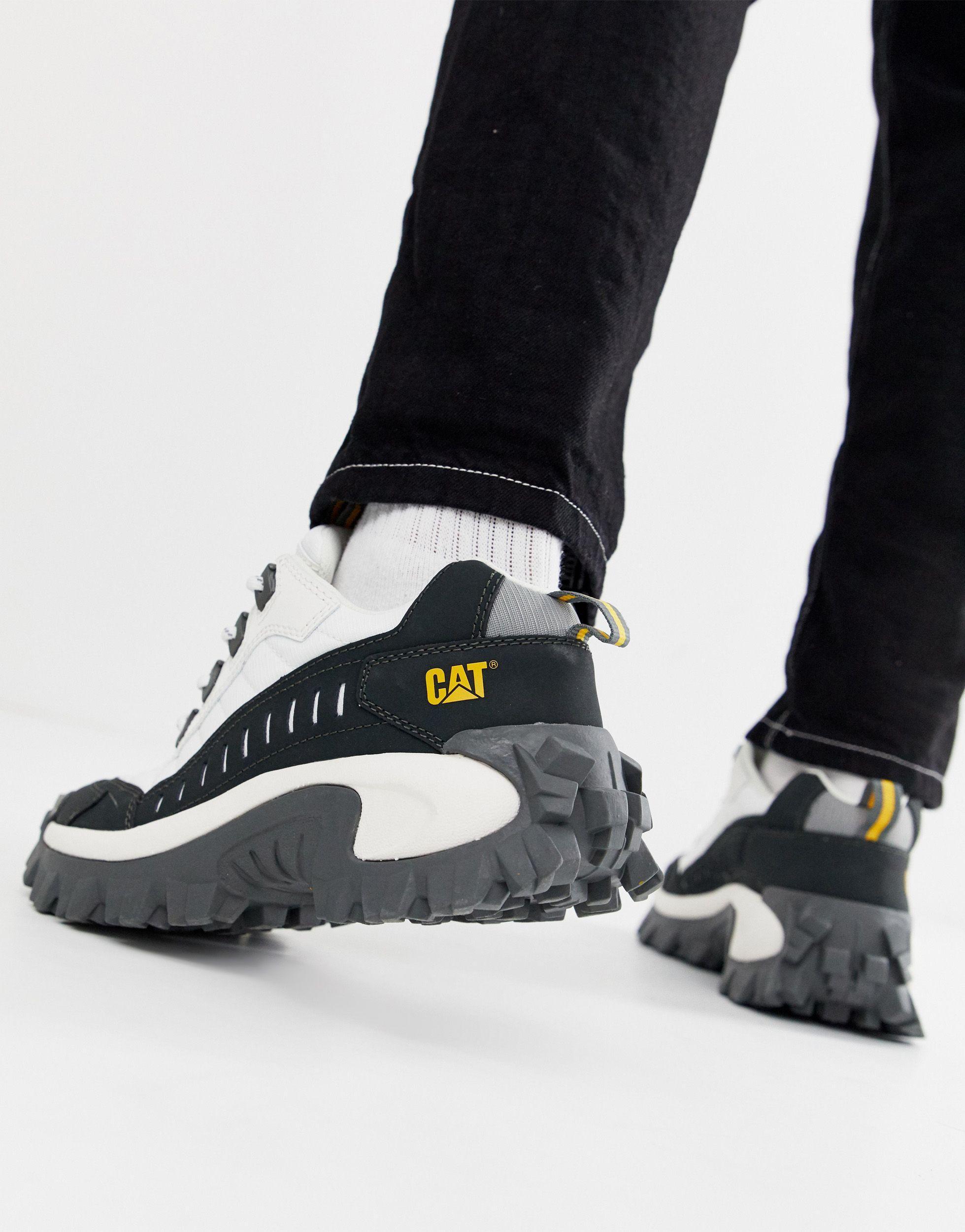Caterpillar Leer Sneakers Met Dikke Zool in het Wit voor heren