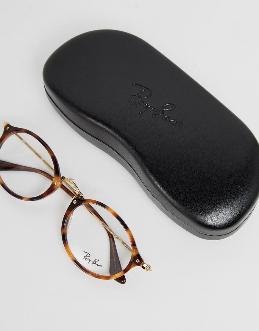 e2e94cbc275 Ray-Ban 0rx2547v Round Optical Frames With Demo Lenses in Brown for Men -  Lyst