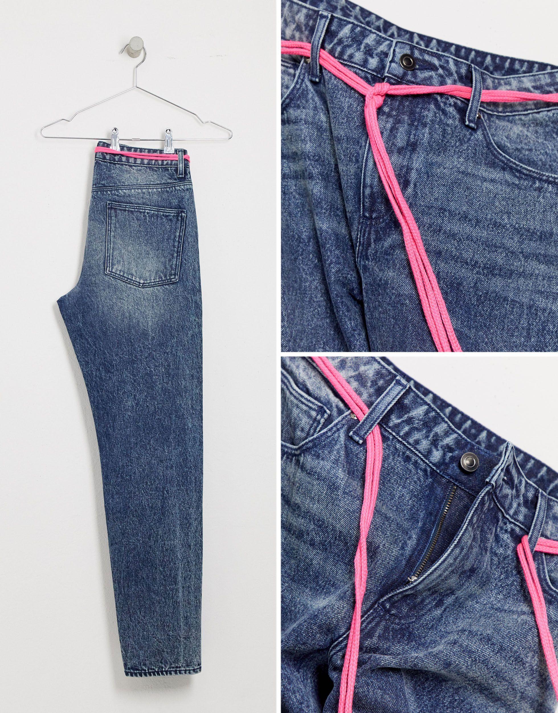 ASOS Denim Tall - Klassieke Stijve Jeans in het Blauw voor heren