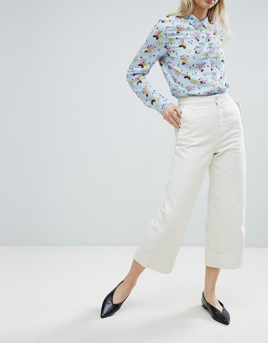 9995f6c09aa5b4 Jupe-culotte en jean large Monki en coloris White