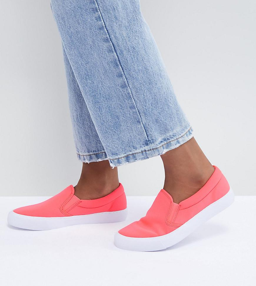 ASOS DESIGN slip on plimsolls in mesh with chunky sole he5m5Sl