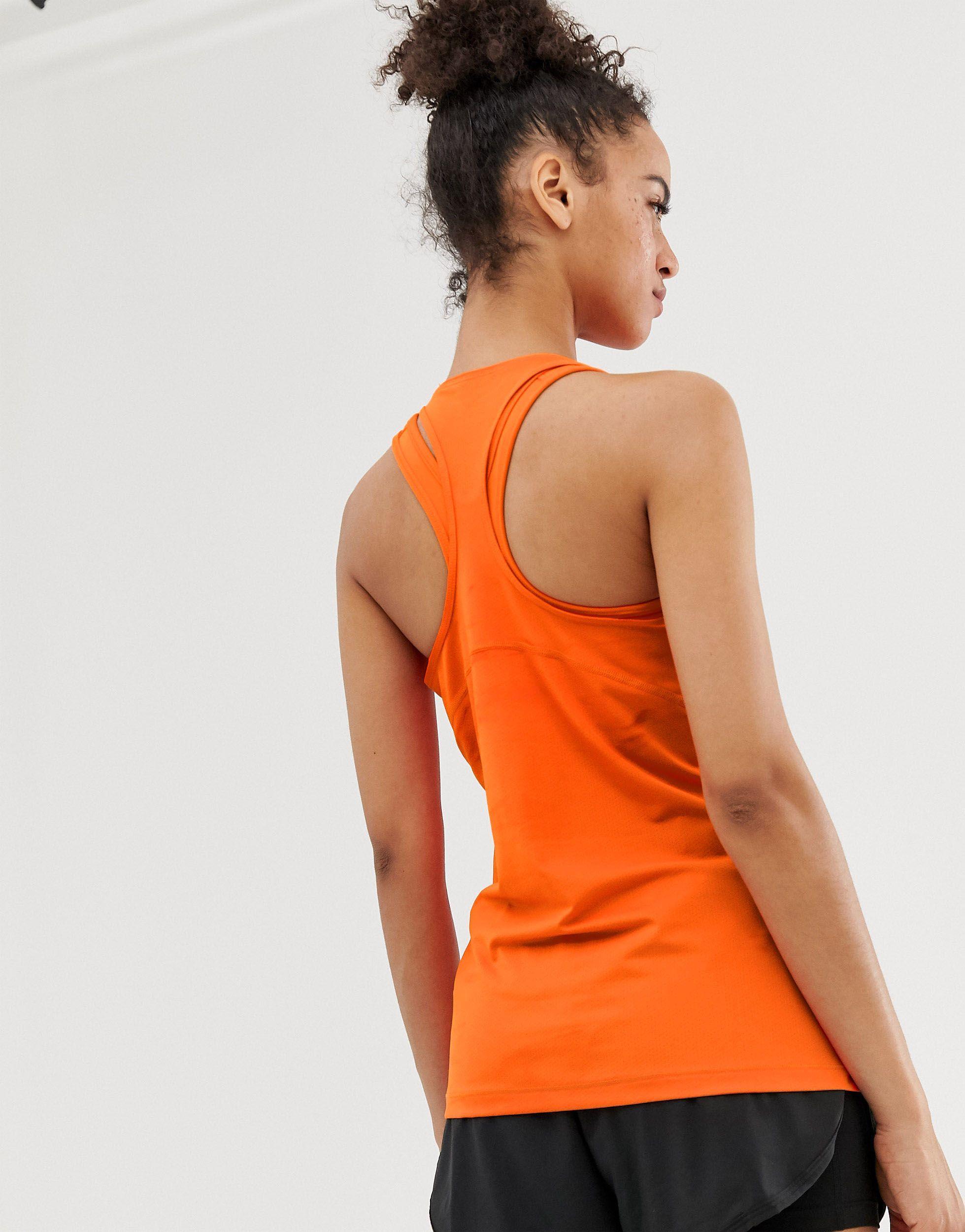 Nike - Pro Training - Débardeur Synthétique Nike en coloris Orange