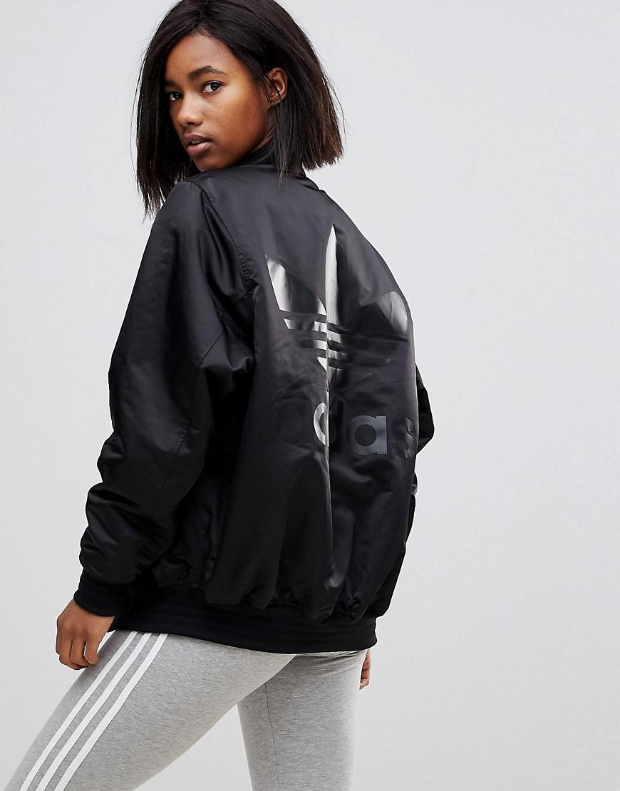 839dbc34d Adidas Originals Originals Popper Bomber Jacket In Black