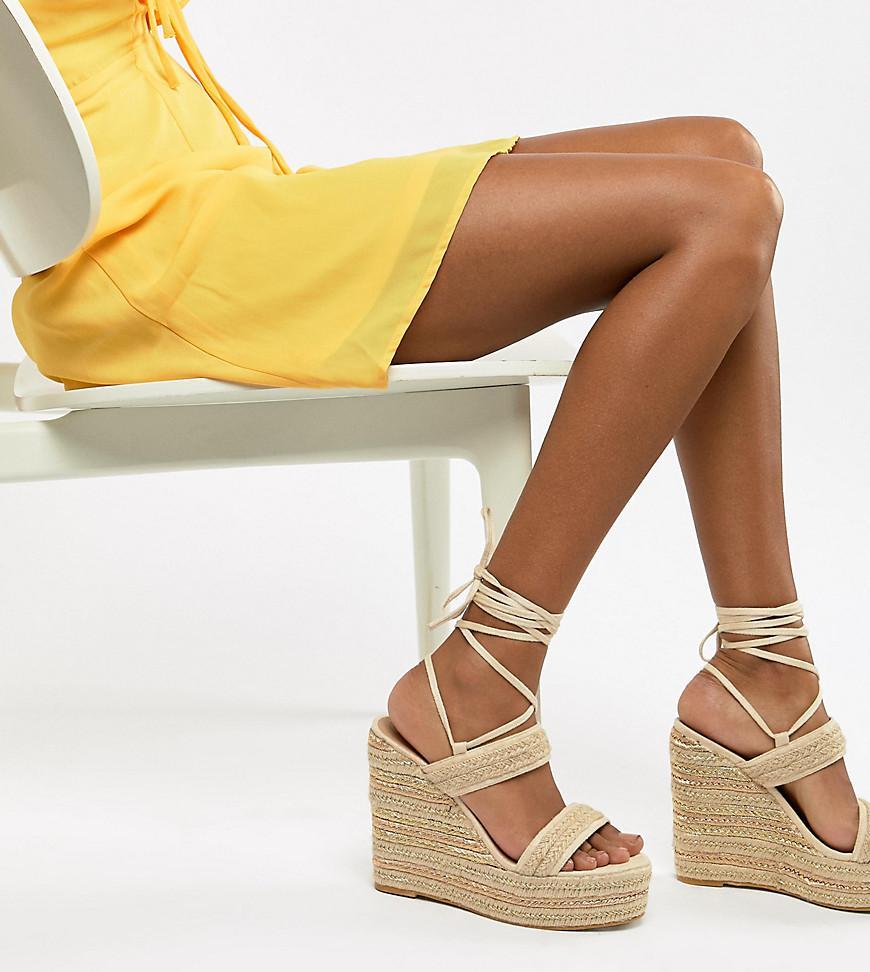 Compenses Nouer Chaussures Avec Sur La Espadrilles Lien Style QBdCeroExW