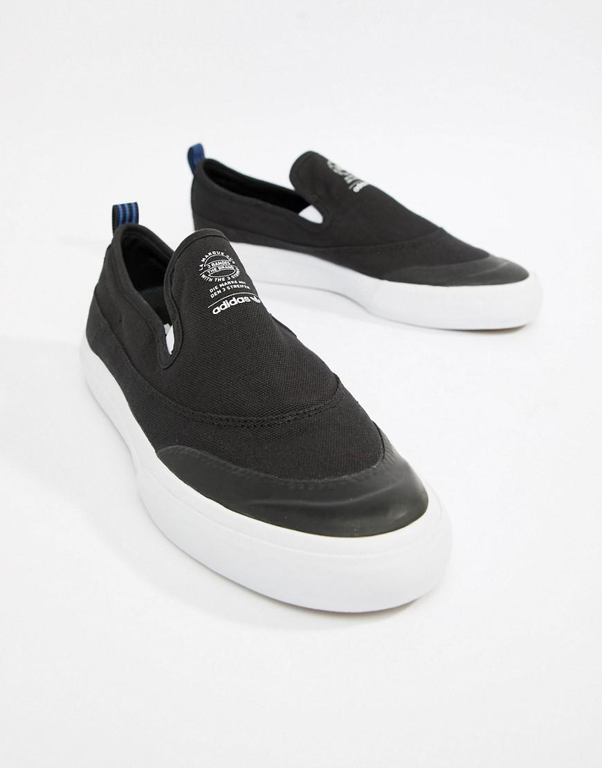adidas Skateboarding Matchcourt Slip-On Trainers In Black CQ1132 free shipping brand new unisex sale with paypal sale pay with paypal 2014 new sale online PJvU452Bt