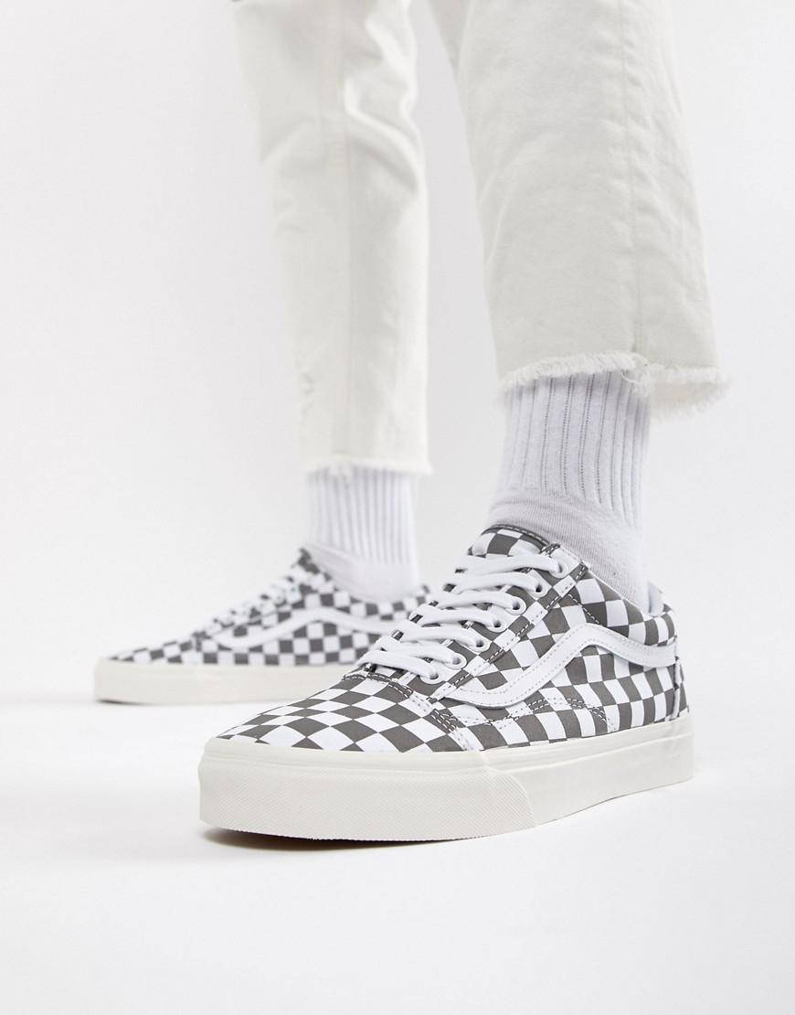 Vans Old Skool Checkerboard Trainers In Grey Vn0a38g1u531 in Gray ... 1d470397e