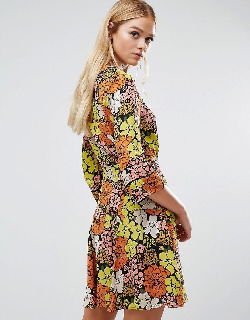 lyst - whistles anjelica tangerine dream print dress