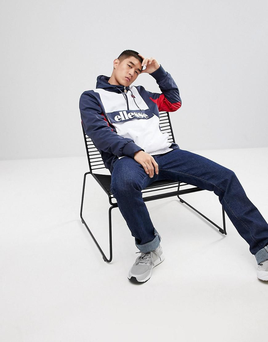 Ellesse Ski Overhead Fleece Lined Jacket In Navy in Blue for Men