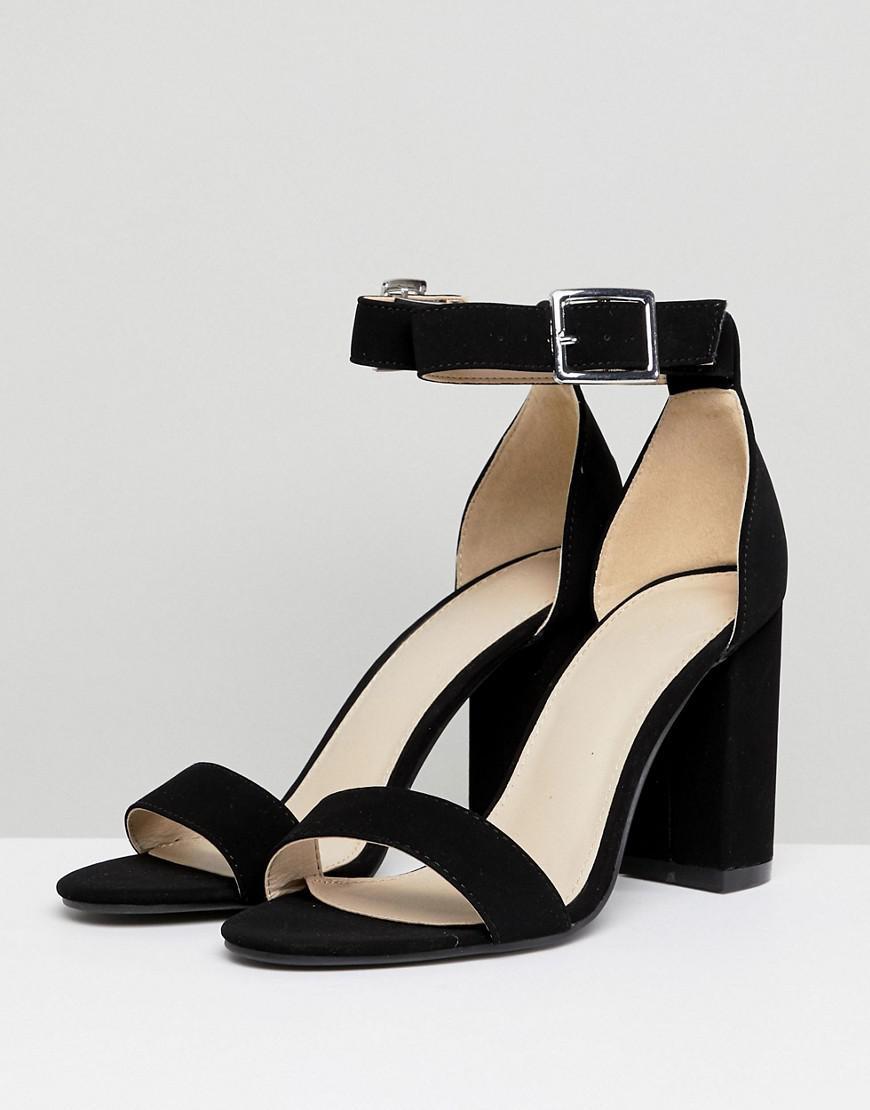 baab5d3dab Pimkie Heeled Sandals in Black - Lyst