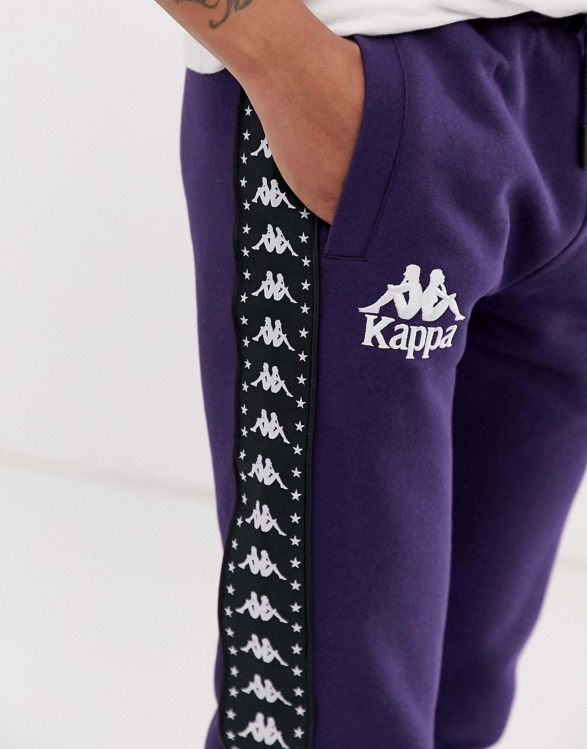 Kappa Synthetisch Authentic - Joggingbroek in het Blauw voor heren