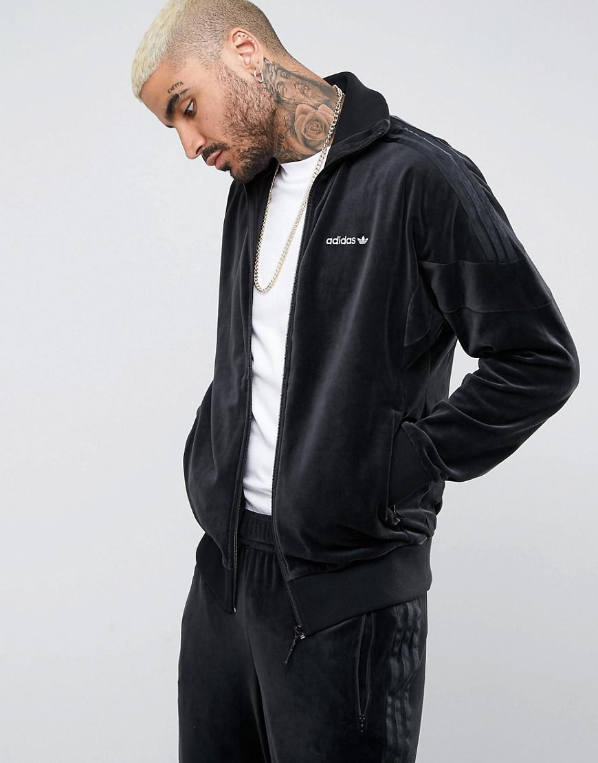 detailed look first look special for shoe Clr84 Velour Track Jacket In Black Bs4662