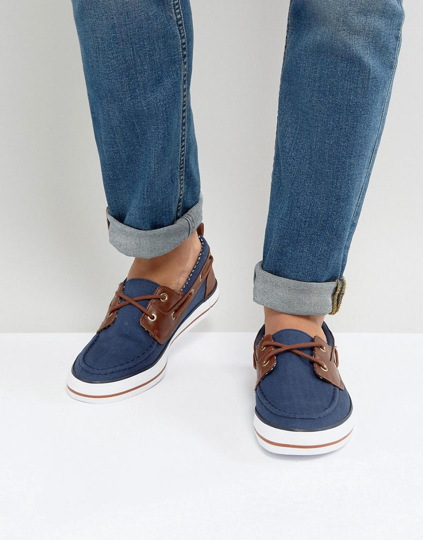 7a54ef536723 ASOS Asos Boat Shoes In Navy in Blue for Men - Lyst